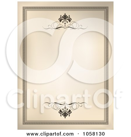 Royalty-Free Vector Clip Art Illustration of a Vintage Frame With Scrolls by KJ Pargeter