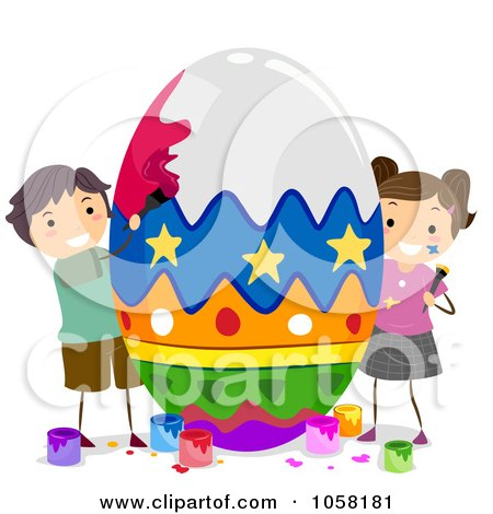 Royalty-Free (RF) Clipart of Easter Kids, Illustrations, Vector ...