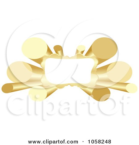 Royalty-Free Vector Clip Art Illustration of a 3d Golden Tube Banner With Copyspace by Andrei Marincas