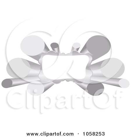 Royalty-Free Vector Clip Art Illustration of a 3d Silver Tube Banner With Copyspace by Andrei Marincas