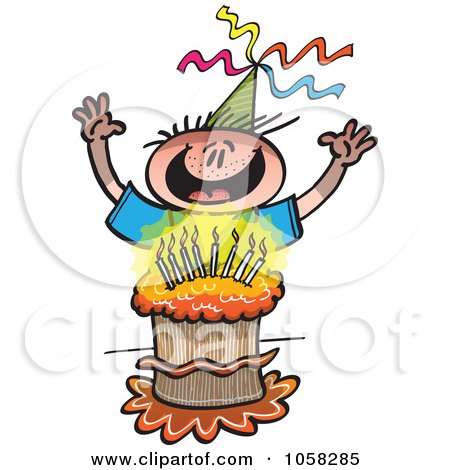 Royalty Free Vector on Royalty Free Vector Clip Art Illustration Of A Happy Birthday Boy
