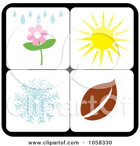 Royalty-Free Vector Clip Art Illustration of a Digital Collage Of Seasonal Icons - 5 by Pams Clipart