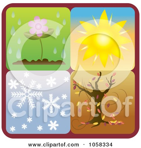 Royalty-Free Vector Clip Art Illustration of a Digital Collage Of Seasonal Icons - 1 by Pams Clipart