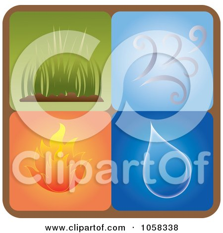 Royalty-Free Vector Clip Art Illustration of a Digital Collage Of Elements Icons - 1 by Pams Clipart