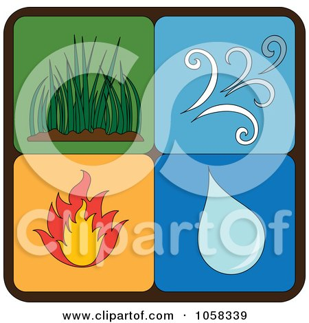 Royalty-Free Vector Clip Art Illustration of a Digital Collage Of Elements Icons - 3 by Pams Clipart