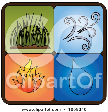 Royalty-Free Vector Clip Art Illustration of a Digital Collage Of Elements Icons - 2 by Pams Clipart
