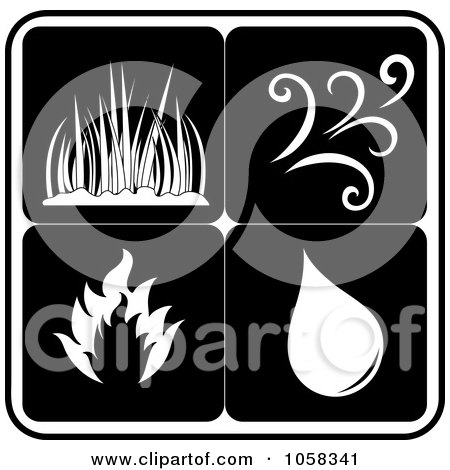 Royalty-Free Vector Clip Art Illustration of a Digital Collage Of Elements Icons - 4 by Pams Clipart