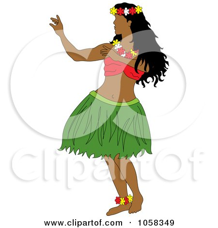 Royalty-Free (RF) Hula Girl Clipart, Illustrations, Vector Graphics #1