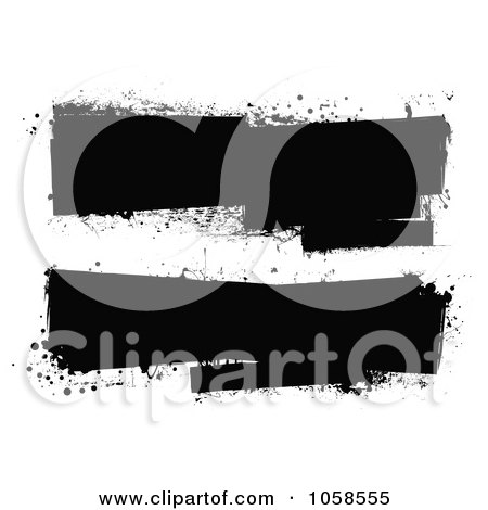 Royalty-Free Vector Clip Art Illustration of a Digital Collage Of Black And White Grunge Banners by michaeltravers