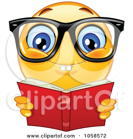 Clipart Nerdy School Boy With Books - Royalty Free Vector ...