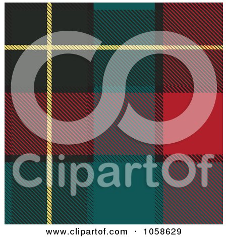 Royalty-Free Vector Clip Art Illustration of a Scottish Plaid Textile Pattern Background - 2 by Paulo Resende