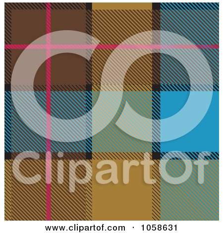 Royalty-Free Vector Clip Art Illustration of a Scottish Plaid Textile Pattern Background - 3 by Paulo Resende