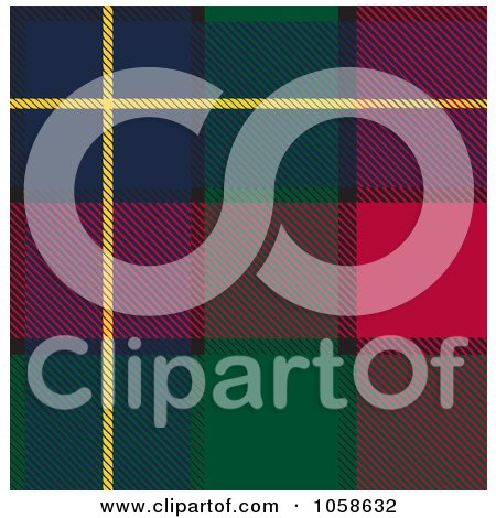 Royalty-Free Vector Clip Art Illustration of a Scottish Plaid Textile Pattern Background - 1 by Paulo Resende
