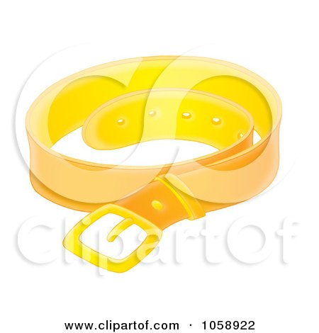 Royalty-Free Clip Art Illustration of a Leather Belt by Alex Bannykh