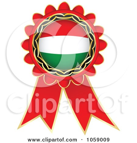 Royalty-Free Vector Clip Art Illustration of a Red Italy Flag Ribbon Label by Andrei Marincas