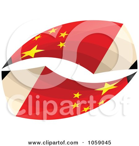 Royalty-Free Vector Clip Art Illustration of 3d Chinese Flag Pencils In A Loop - 2 by Andrei Marincas