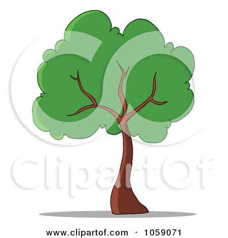 Royalty-Free Vector Clip Art Illustration of a Tree Logo - 1 by Hit Toon