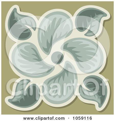 Royalty-Free Vector Clip Art Illustration of a Leaf Tile Design - 1 by Any Vector