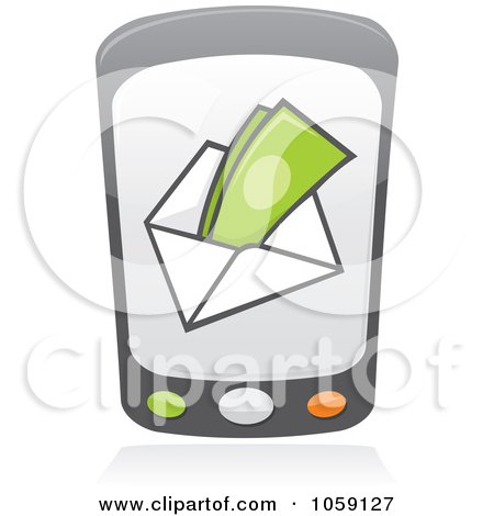 Royalty-Free Vector Clip Art Illustration of a Cell Phone With A Payment Screen by Any Vector