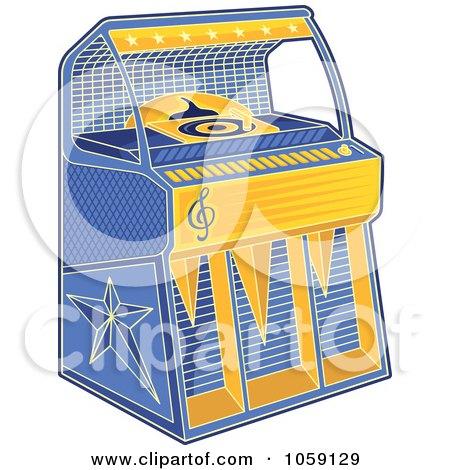 Royalty-Free Vector Clip Art Illustration of a Retro Juke Box by Any Vector