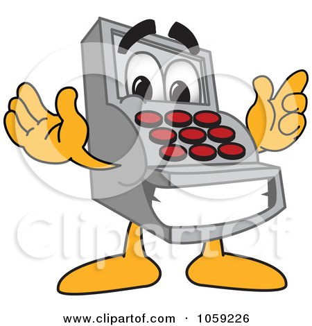 Royalty-Free Vector Clip Art Illustration of a Cash Register Character by Toons4Biz