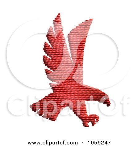 Royalty-Free Clip Art Illustration of a Textured Red Hawk by Toons4Biz