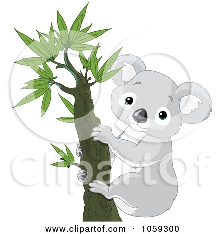 Royalty-Free Vector Clip Art Illustration of a Cute Koala In A Tree by Pushkin