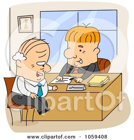 Cartoon Men Working In An Office Posters, Art Prints
