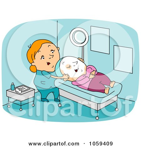 Royalty-Free Vector Clip Art Illustration of a Dermatologist With A Client by BNP Design Studio