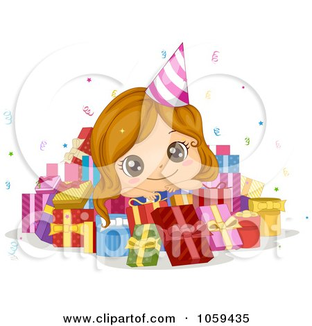 Baby Picture Studio on Cute Birthday Girl In A Pile Of Presents By Bnp Design Studio  1059435