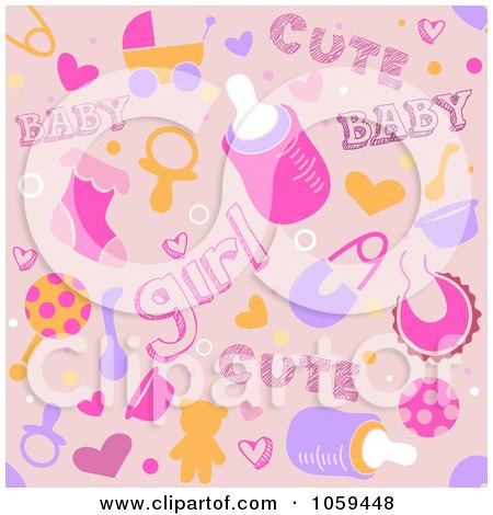 Baby Images Girl on Of A Seamless Pink Baby Girl Background By Bnp Design Studio  1059448