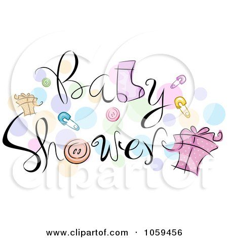Free Baby Animal on Royalty Free Vector Clip Art Illustration Of Baby Shower Text With