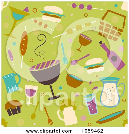 Clipart Family Having A Beach BBQ - Royalty Free Vector Illustration by BNP Design ...
