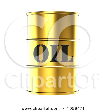 3d Gold Barrel Of Gasoline With Oil On The Front - 2 Posters, Art Prints