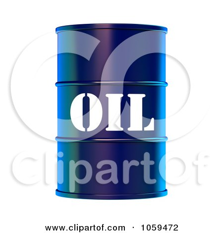 3d Blue Barrel Of Gasoline With Oil On The Front - 2 Posters, Art Prints