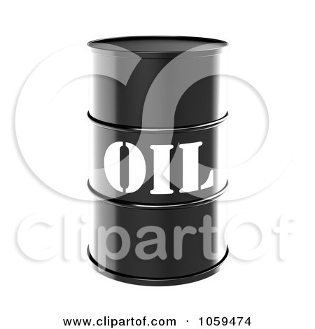 3d Black Barrel Of Gasoline With Oil On The Front - 1 Posters, Art Prints