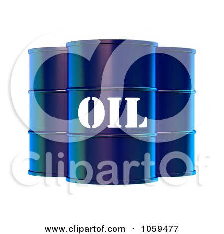 3d Blue Barrels Of Gasoline With Oil On The Front Posters, Art Prints