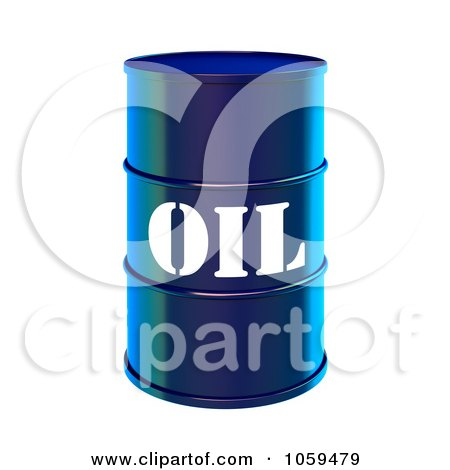 3d Blue Barrel Of Gasoline With Oil On The Front - 1 Posters, Art Prints