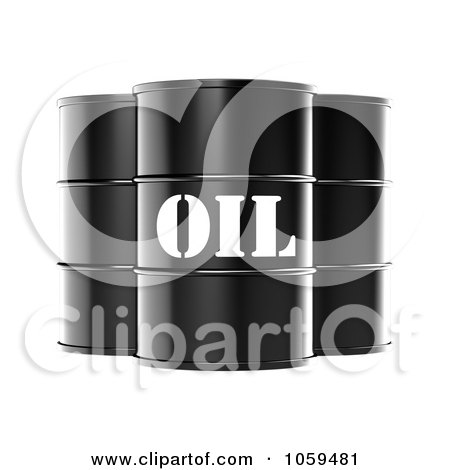 3d Black Barrels Of Gasoline With Oil On The Front Posters, Art Prints