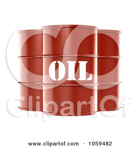 3d Red Barrels Of Gasoline With Oil On The Front Posters, Art Prints