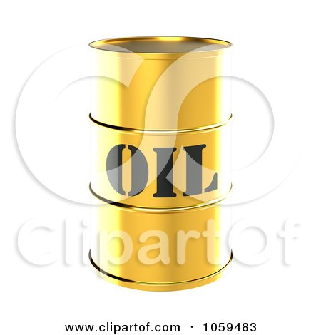 3d Gold Barrel Of Gasoline With Oil On The Front - 1 Posters, Art Prints