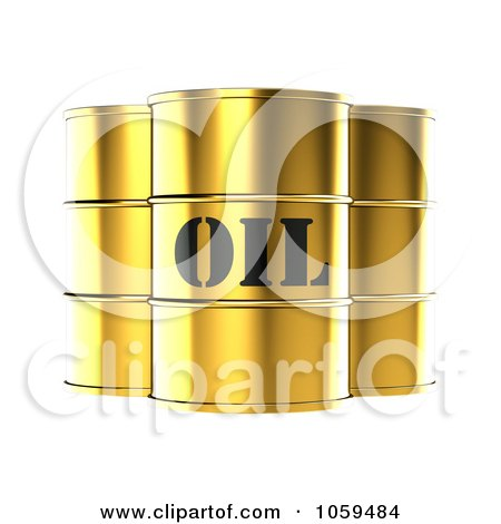3d Gold Barrels Of Gasoline With Oil On The Front Posters, Art Prints