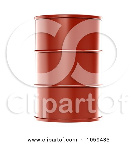 3d Red Barrel Of Gasoline Posters, Art Prints