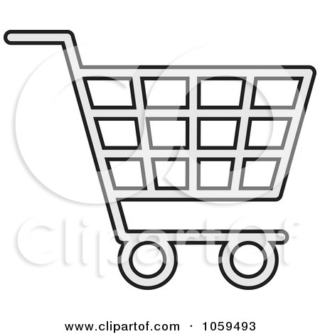 Royalty-Free Vector Clip Art Illustration of a Shopping Cart Icon - 1 by Any Vector