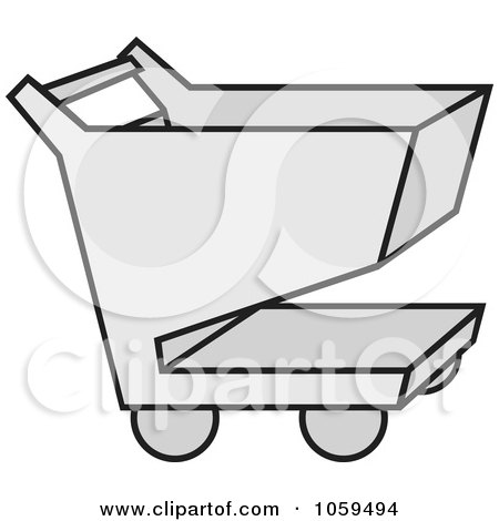 Royalty-Free Vector Clip Art Illustration of a Shopping Cart Icon - 3 by Any Vector