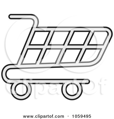 Royalty-Free Vector Clip Art Illustration of a Shopping Cart Icon - 4 by Any Vector