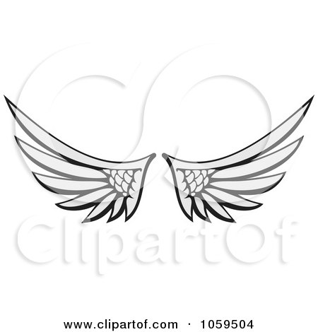 Royalty-Free Vector Clip Art Illustration of a Pair of Angel Wings by Any Vector