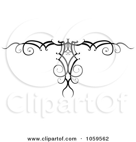 Royalty-Free Vector Clip Art Illustration of a Black And White Swirl Arm Band Tattoo Design by AtStockIllustration