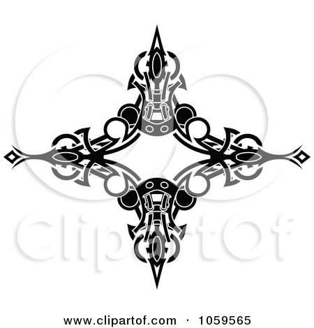 royalty free vector clip art illustration of a black and white tribal arm band tattoo design by. Black Bedroom Furniture Sets. Home Design Ideas