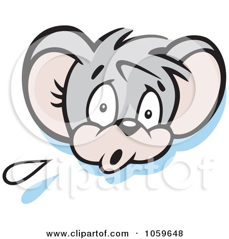 Royalty-Free Vector Clip Art Illustration of a Scared Micah Mouse by Johnny Sajem